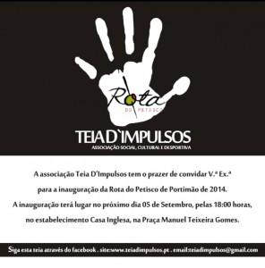 Convite Abertura Rota do Petisco 2014